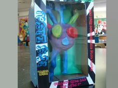 collaborative monster project: elementary + high school. From Art of Apex High School blog: Monsters in a Box : Part One