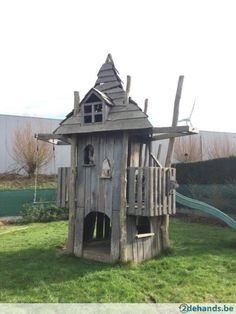 Eiken speelhuisje - eigen ontwerp (waarschijnlijk verkocht)