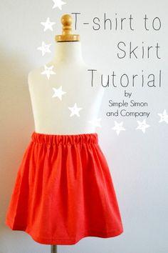 T-Shirt to Skirt Tut