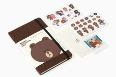 MOLESKINE x LINE FRIENDS Character 2017 BROWN Weekly Note Diary Planner Large