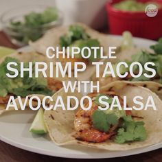 Lighten up your taco Tuesday with some healthy yet flavorful Chipotle Shrimp Tacos! Top them with a little Avocado Salsa Verde and you've got yourself the perfect weeknight meal.