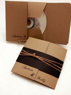 Rustic Disc Cover Wedding Favour,  awesome idea for a favour - Wedding sound track CD