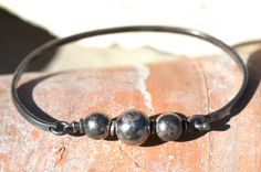 Sterling Silver Bead Bangle Bracelet Boho by Yourgreatfinds