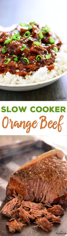 Try this Slow Cooker Orange Beef crockpot recipe for a family dinner on a busy day. Put it in the morning and it will be ready at dinnertime.