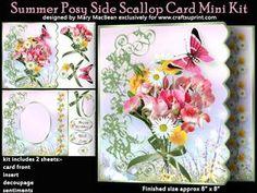 Summer Posy Side Scallop Card Mini Kit