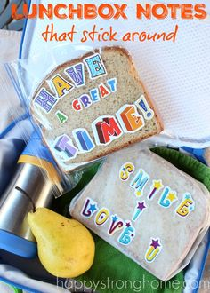 Lunchbox Notes that Stick Around! *This is such a cute idea...