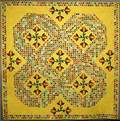 Tsunami by Gay Joyner.  2004 Road to California.  There are 2000 one-and-a-half inch triangles in this quilt.