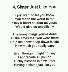 poem sisters and best friends