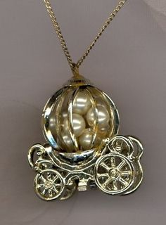 Sarah Cov Caged Pearls Coronation Carriage Pend Necklace w 1 20 G F Chain Vintage Costume Jewelry, Vintage Costumes, Vintage Jewelry, Sarah Coventry Jewelry, Lockets, Brooches, Jewerly, Minerals, Jewelry Necklaces