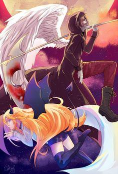puras imágenes de satsuriku no tenshi (殺戮の天使) y sus personajes # De Todo # amreading # books # wattpad Anime Angel, Anime Devil, Angel Of Death, Diablo Anime, Magic Anime, Satsuriku No Tenshi, Estilo Anime, Image Manga, I Love Anime