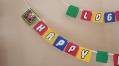 Banner de cumpleaños de LEGO por CelebrationPapers en Etsy