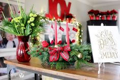 Centerpieces aren't just for dining tables. @howdoesshe uses hers to decorate a side table and welcome guests.