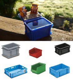 Behälter aus Kunststoff in diversen Formen & Farben. Praktisch für daheim und unterwegs.