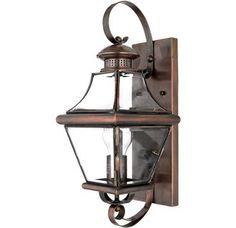 """$360.  View the Quoizel CAR8728 Carleton 1 Light 18"""" Tall Outdoor Wall Sconce with Clear Glass at LightingDirect.com."""