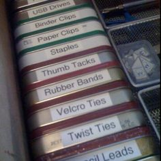 They're Altoid tins. Genius!!!