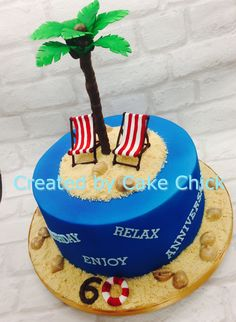 Edible Cake Decorations Beach : edible palm tree CAKE DECORATION TOPPER tropical garden ...