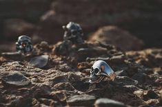 Steep biker ring made of silver. A qualitative skull. Handmade. Suitable for everyone