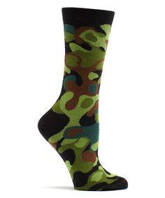 This Black Camo Specks Socks is perfect! #zulilyfinds