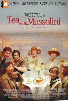 Tea with Mussolini Movie poster USA 1999 Cher Judi Dench frame on your wall! Joan Plowright, Maggie Smith, Judi Dench, Movies Worth Watching, Movie List, Classic Movies, Great Movies, Film Movie, Movies To Watch