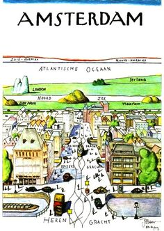 Amsterdam by Saul Steinberg