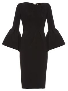 Margot bell-sleeve crepe dress | Roksanda | MATCHESFASHION.COM