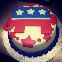 Republican Cake! Love love love!!