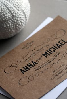 Love this typography. Would look good letterpressed