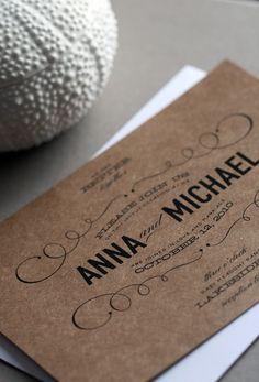 Vintage Type Wedding Invitation by CheerUpCherup on Etsy