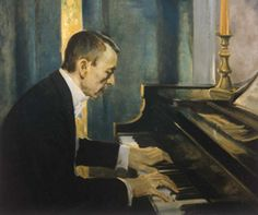 Sergei Rachmaninoff;  Russian composer and virtuoso pianist whose Romantic, emotion driven compositions garnered him much praise and attention.  His Piano Concerto No. 2 is often revered as one of the greatest compositions of all time, and his Piano Concerto No. 3 sits atop the list of most difficult piano pieces to play.