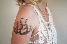 Vintage ship temporary tattoo @  tattoorary