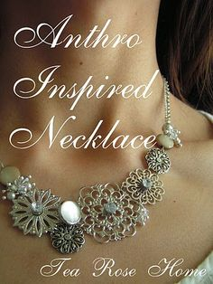 diy necklace #diy #necklace #antropologie