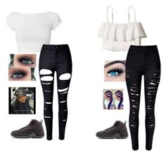 """""""Girls night out"""" by crawfordki123 ❤ liked on Polyvore featuring Helmut Lang, Hollister Co., WithChic, MINX and Ultimate"""