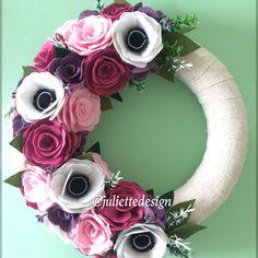 Spring Wreath, Summer Wreath, Felt Wreath, Pink Wreath, Wreath, Door Hanger by juliettesdesigntr on Etsy https://www.etsy.com/listing/598813944/spring-wreath-summer-wreath-felt-wreath