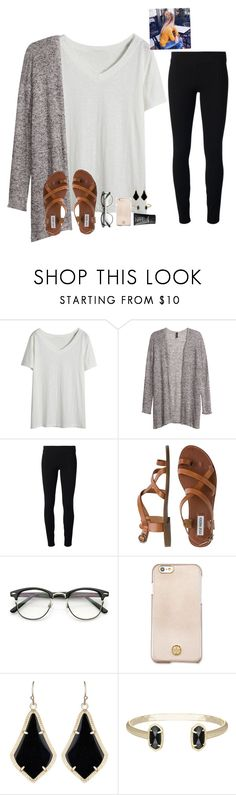 """Good morning loves "" by raquate1232 ❤ liked on Polyvore featuring H&M, Helmut by Helmut Lang, Steve Madden, ZeroUV, Tory Burch, Kendra Scott and NARS Cosmetics"