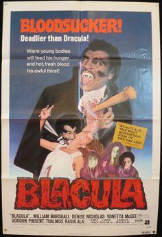 Rare Original BLACULA movie poster 1972 by ScreenlandMoviepaper
