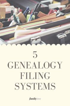 These five genealogical filing systems will slim down your, weighty piles of paper and quicken your steps to research success. These five genealogical filing systems will slim down your, weighty piles of paper and quicken your steps to research success. Free Genealogy Records, Genealogy Research, Family Genealogy, Genealogy Organization, Paper Organization, Organizing, Family Reunion Games, Family Reunions, Family Research