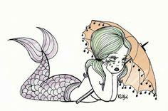 Mermaid lyfe ~ Art by Ilse Valfre ~