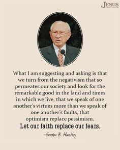 Turn from Negativism Mormon Quotes, Lds Quotes, Religious Quotes, Uplifting Quotes, Book Quotes, Great Quotes, Quotes To Live By, Inspirational Quotes, Uplifting Thoughts