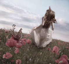 to run in a field of endless flowers