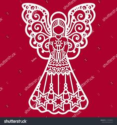 A template for laser cutting.Design elements for holiday cards. Christmas Stencils, Christmas Vinyl, Cross Stitch Christmas Ornaments, Christmas Nativity Scene, Christmas Templates, Christmas Paper, Christmas Colors, Christmas Angels, Letter Patterns