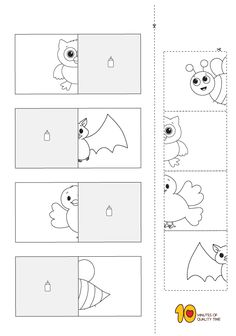 Animal Matching Worksheets Teaching Special Education, Kids Education, Easy Arts And Crafts, Crafts To Do, Matching Worksheets, Arabic Lessons, Fun Activities For Kids, Kindergarten Worksheets, Quality Time
