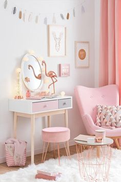 Bedroom Ideas For Teen Girls, Girl Bedroom Designs, Room Ideas Bedroom, Teen Girl Bedrooms, Bedroom Decor, Ikea Girls Room, Bedroom Office, Study Room Decor, Princess Room