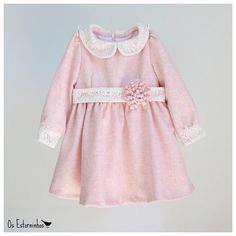 Girls dress - Pink wool dress with long sleeve - Other colors available