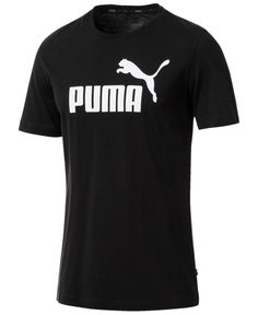 A casual classic with lasting comfort, this Puma T-shirt sports a large logo for a timeless look. Puma Shirts, Tee Shirts, Man Logo, Puma Mens, Mens Activewear, Unisex, Baby Clothes Shops, Tshirts Online, Mens Tees