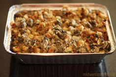 Easy Thanksgiving Sides, Stuffing Recipes For Thanksgiving, Holiday Recipes, Thanksgiving Food, Thanksgiving Leftovers, Holiday Foods, Christmas Desserts, Oyster Dressing, Lime Dressing