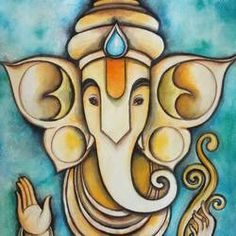 Contemporary Ganesha painting  by Ma Studio