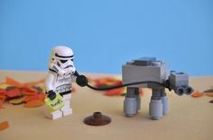 LEGO / Taking the little AT-AT walkies by Darthmiller on deviantART - Star Wars Stormtroopers - Ideas of Star Wars Stormtroopers - LEGO / Taking the little AT-AT walkies by Darthmiller on deviantART Lego Star Wars, Star Wars Episoden, Star Wars Meme, Star Wars Boba Fett, Lego Stormtrooper, R2d2, Starwars Lego, Star Destroyer, Millennium Falcon