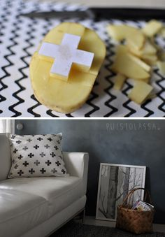 DIY Potato cross stamp