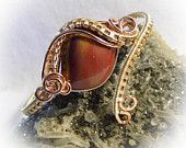 Copper Brass Mookaite Jasper Wire Wrapped Stone Bracelet  http://www.etsy.com/shop/superioragates