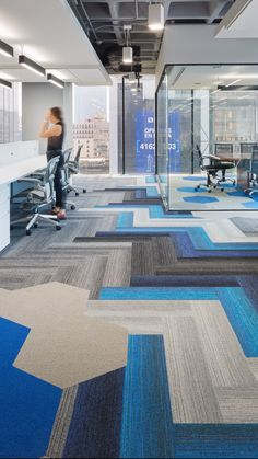 Saturate tiles & Hexagon tiles by Shaw Contract